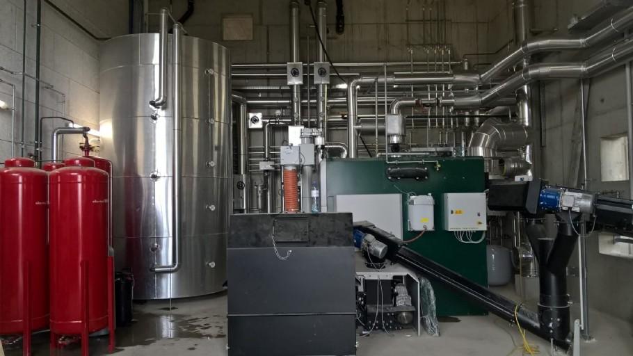 Neue Hackgutanlage 350 kW für Bioenergie Fernheizwerk in Grünbach