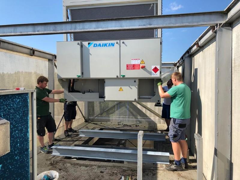 Neue Klimaanlage und Heizung für Möbelhaus Manzenreiter, Freistadt