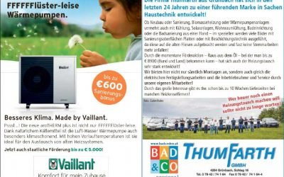 Flüsterleise Wärmepumpen: € 600 Sanierungsbonus