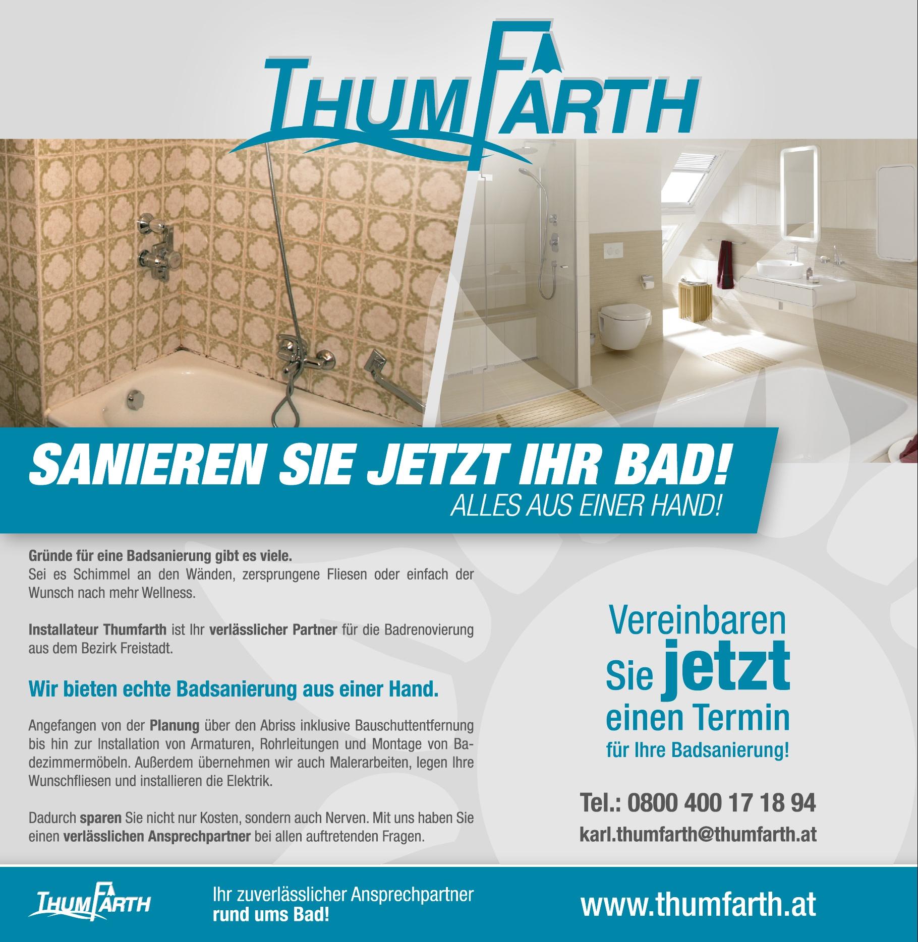 Bad sanieren Thumfarth